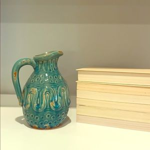 Turquoise Decorative Pitcher